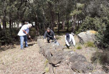 Nettoyage du site archéologique d'Embonne